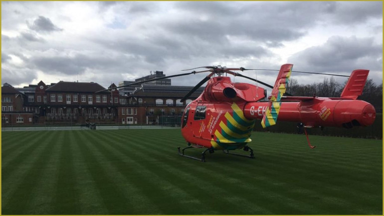 Air Ambulance visits Queen's