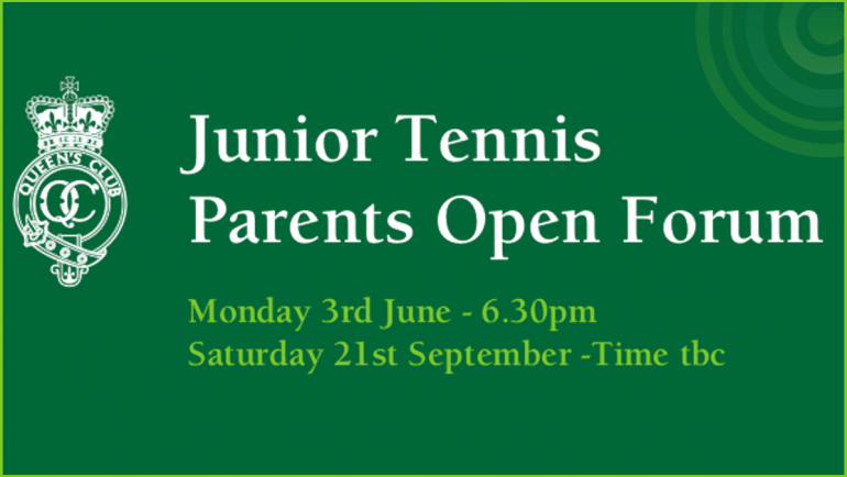 Junior Tennis Parents Open Forum