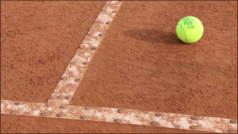 GB Players practice on the Club's Clay courts