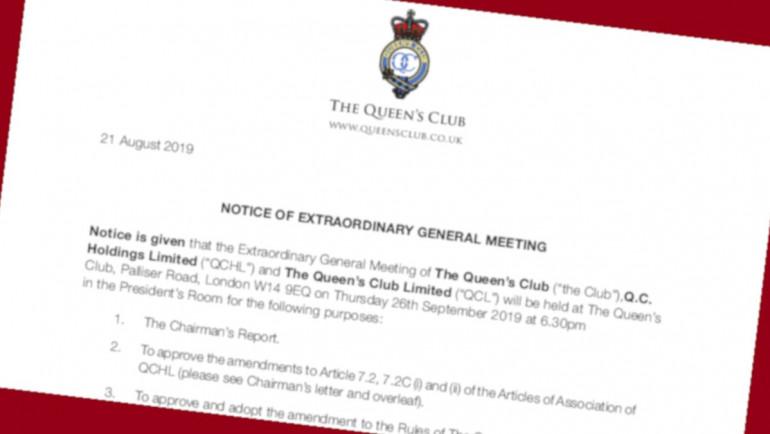 EGM – Thursday 26th September 2019, 6.30pm