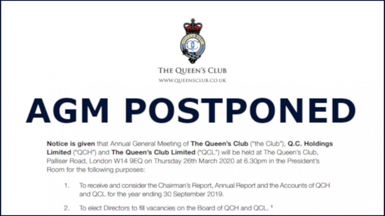 Postponement of Annual General Meeting