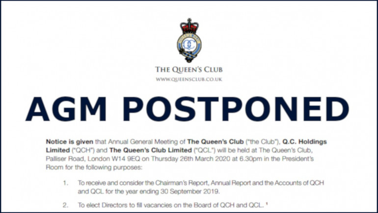 Postponement of Annual General Meeting